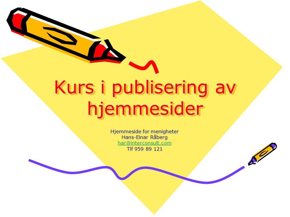 Kurs i publisering av hjemmesider