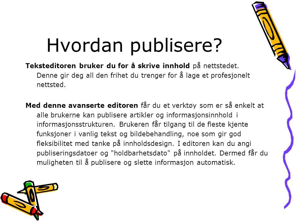 Hvordan publisere