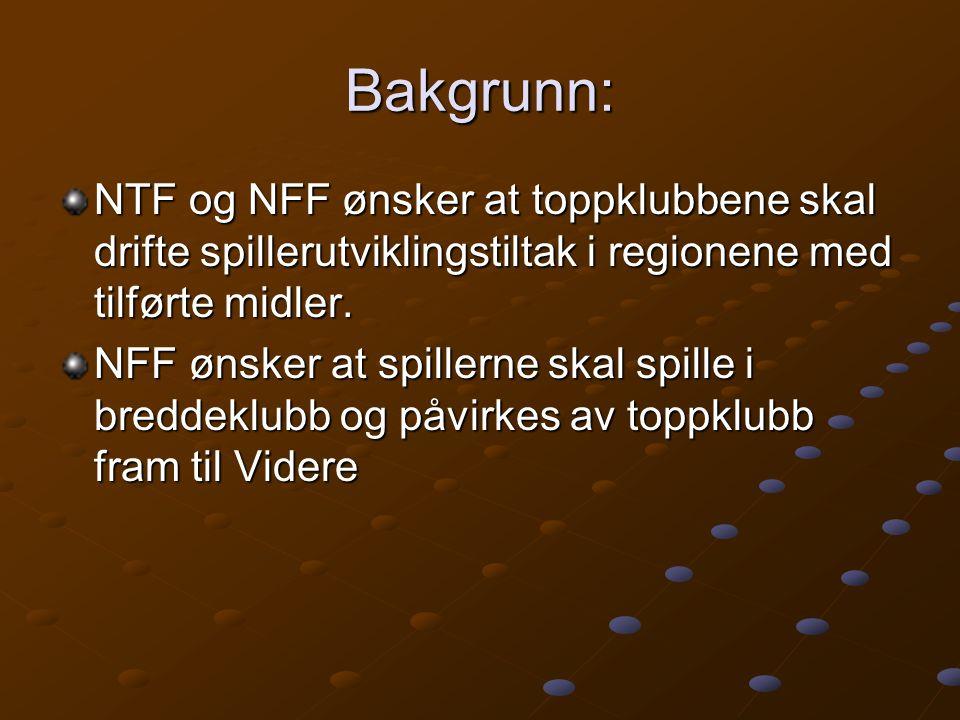Bakgrunn: NTF og NFF ønsker at toppklubbene skal drifte spillerutviklingstiltak i regionene med tilførte midler.