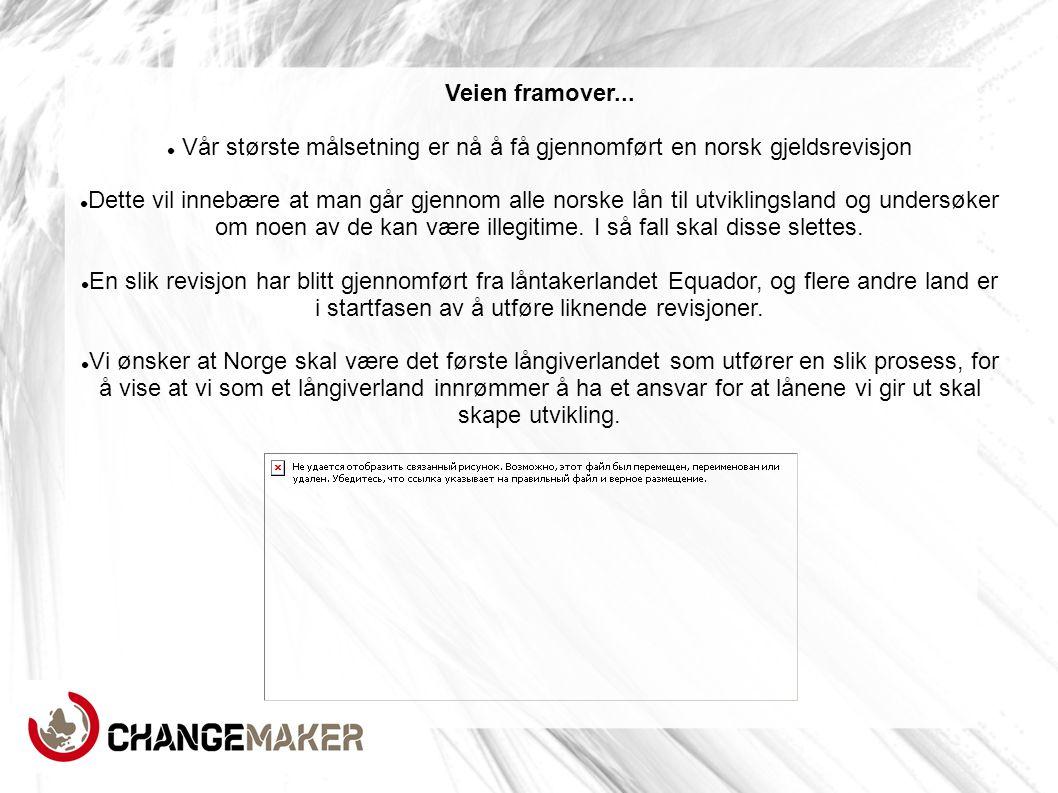 Vår største målsetning er nå å få gjennomført en norsk gjeldsrevisjon