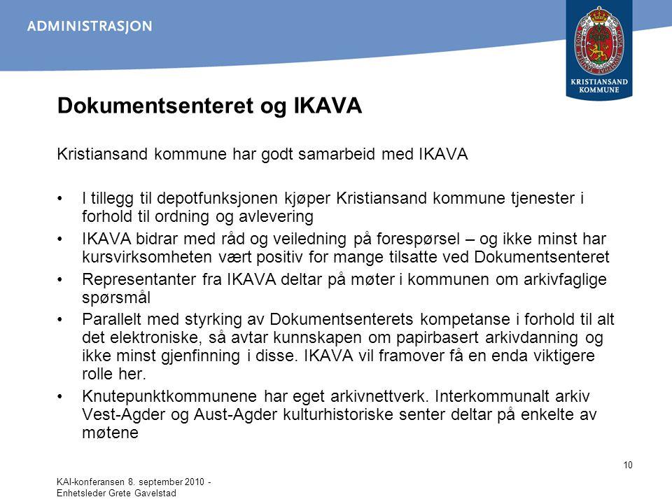 Dokumentsenteret og IKAVA