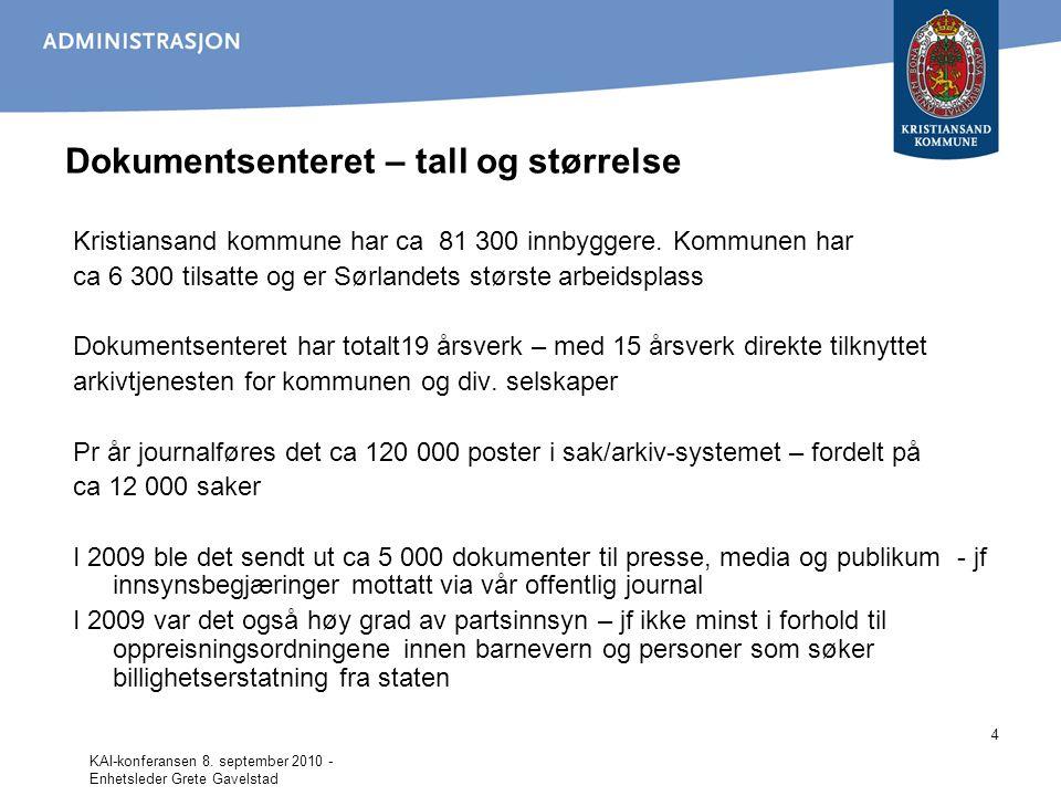 Dokumentsenteret – tall og størrelse