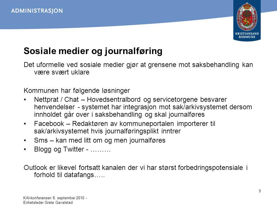 Sosiale medier og journalføring