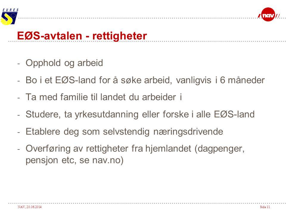 EØS-avtalen - rettigheter