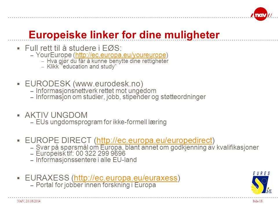 Europeiske linker for dine muligheter
