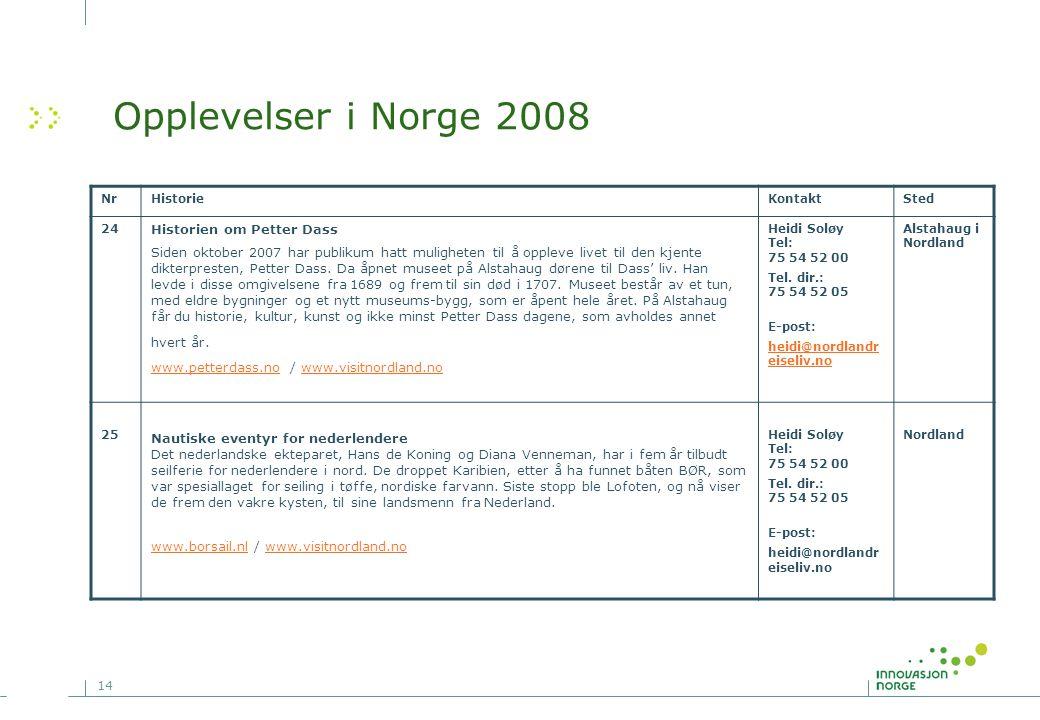 Opplevelser i Norge 2008 Historien om Petter Dass