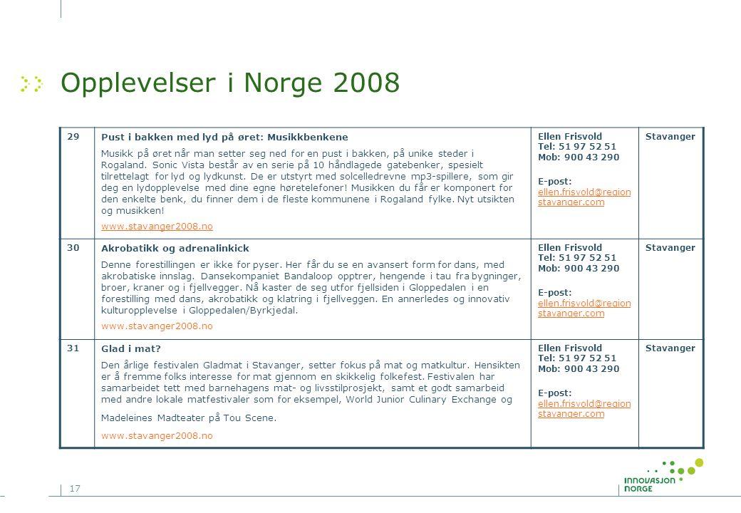 Opplevelser i Norge 2008 Pust i bakken med lyd på øret: Musikkbenkene