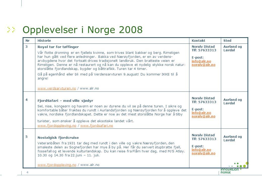 Opplevelser i Norge 2008 Royal tur for tøffinger