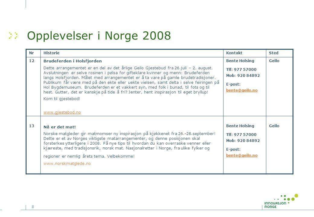 Opplevelser i Norge 2008 Brudeferden i Holsfjorden