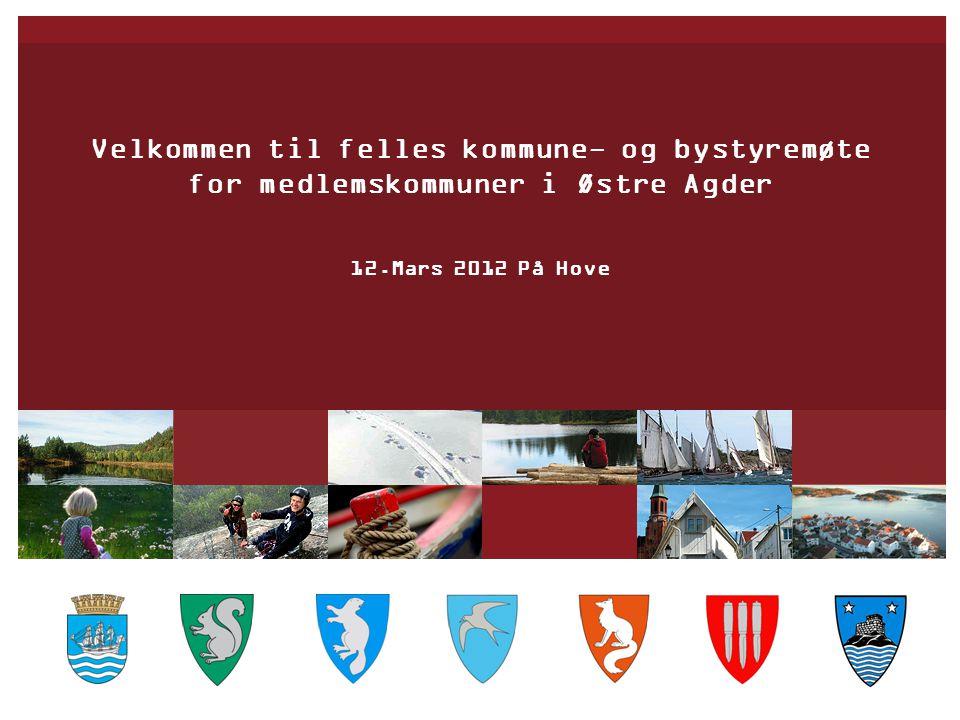Velkommen til felles kommune- og bystyremøte for medlemskommuner i Østre Agder