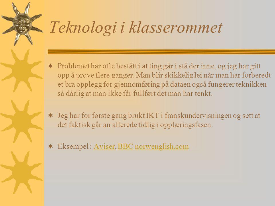 Teknologi i klasserommet