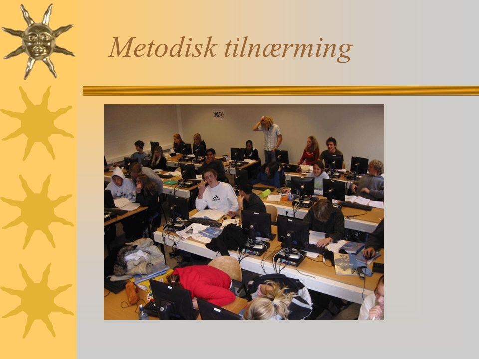 Metodisk tilnærming Romindeling-ikke pedagogisk med forelesningsoppsett, gruppeoppsett, arbeidsplasoppsett.
