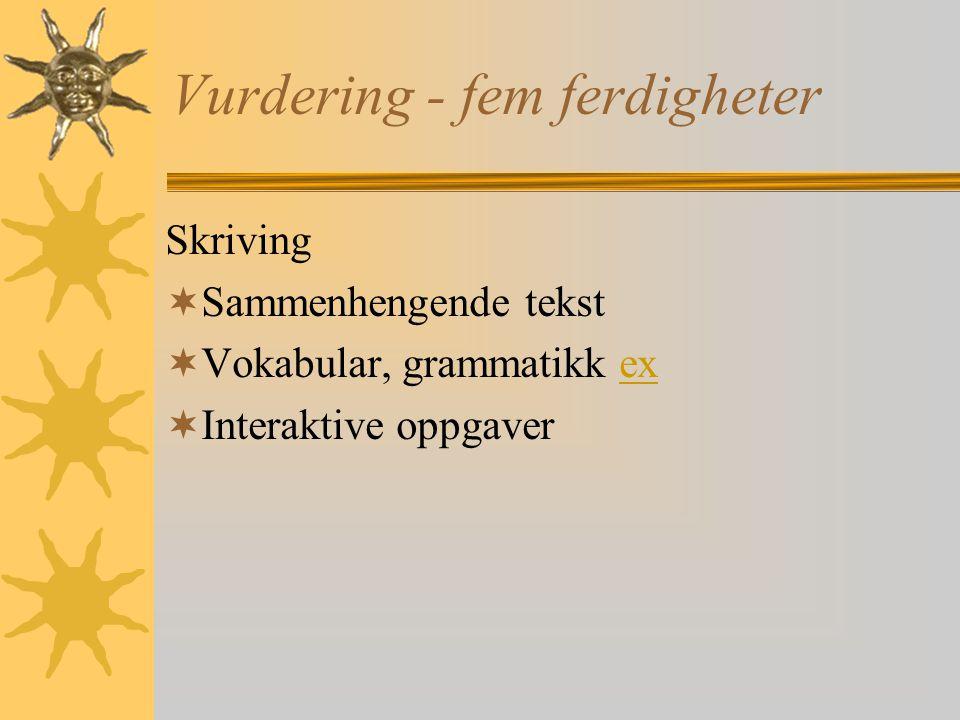 Vurdering - fem ferdigheter