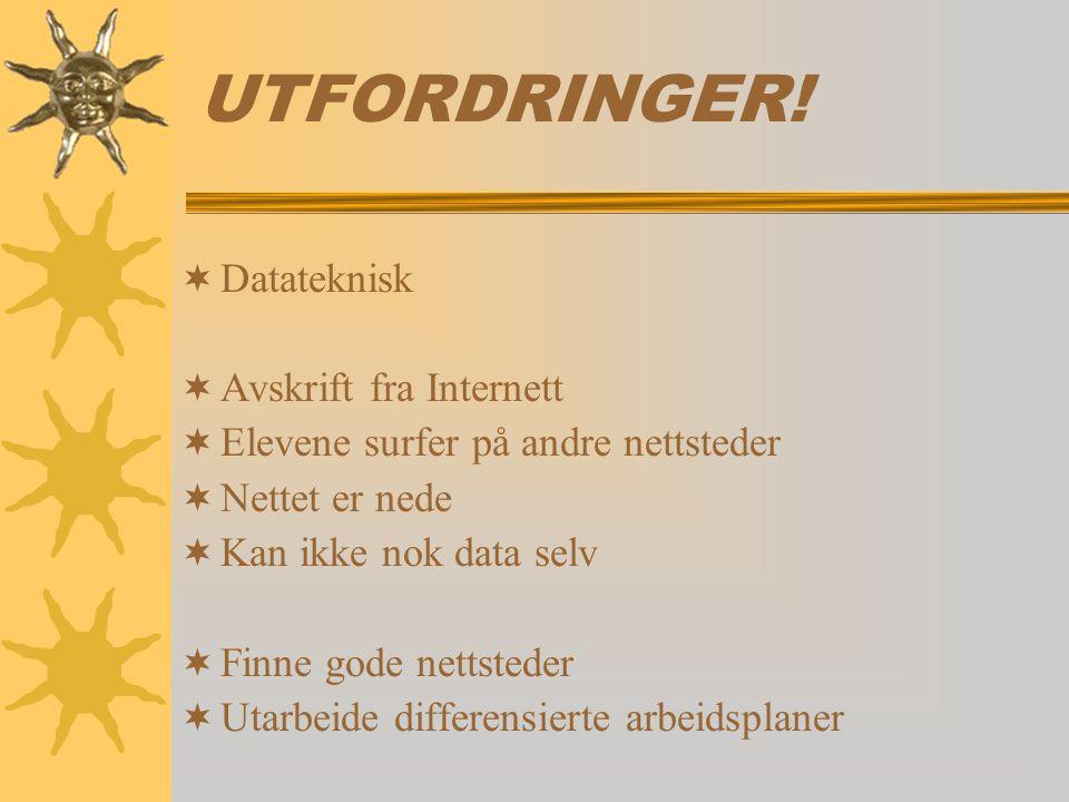 UTFORDRINGER! Datateknisk Avskrift fra Internett
