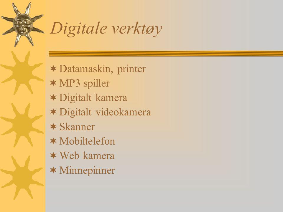 Digitale verktøy Datamaskin, printer MP3 spiller Digitalt kamera