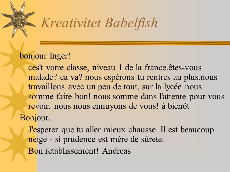 Kreativitet Babelfish