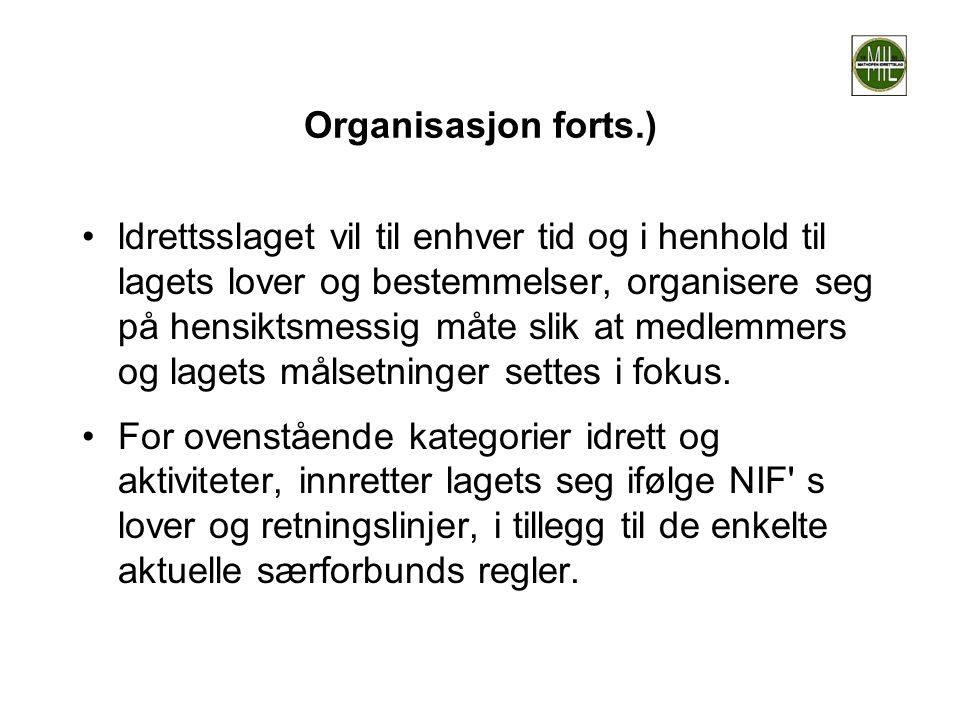Organisasjon forts.)