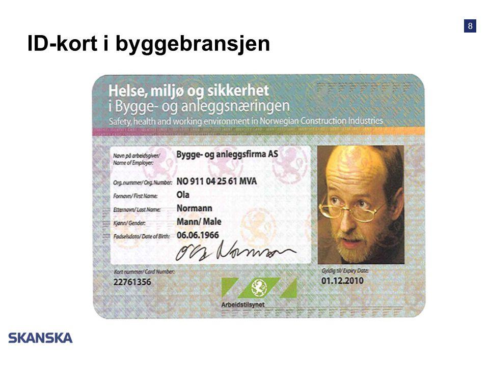 ID-kort i byggebransjen
