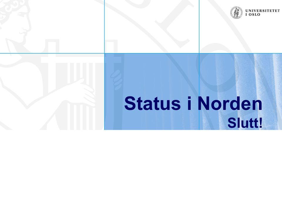 Status i Norden Slutt!