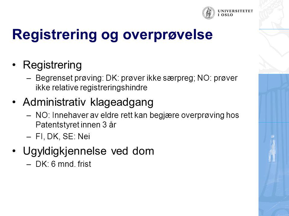 Registrering og overprøvelse