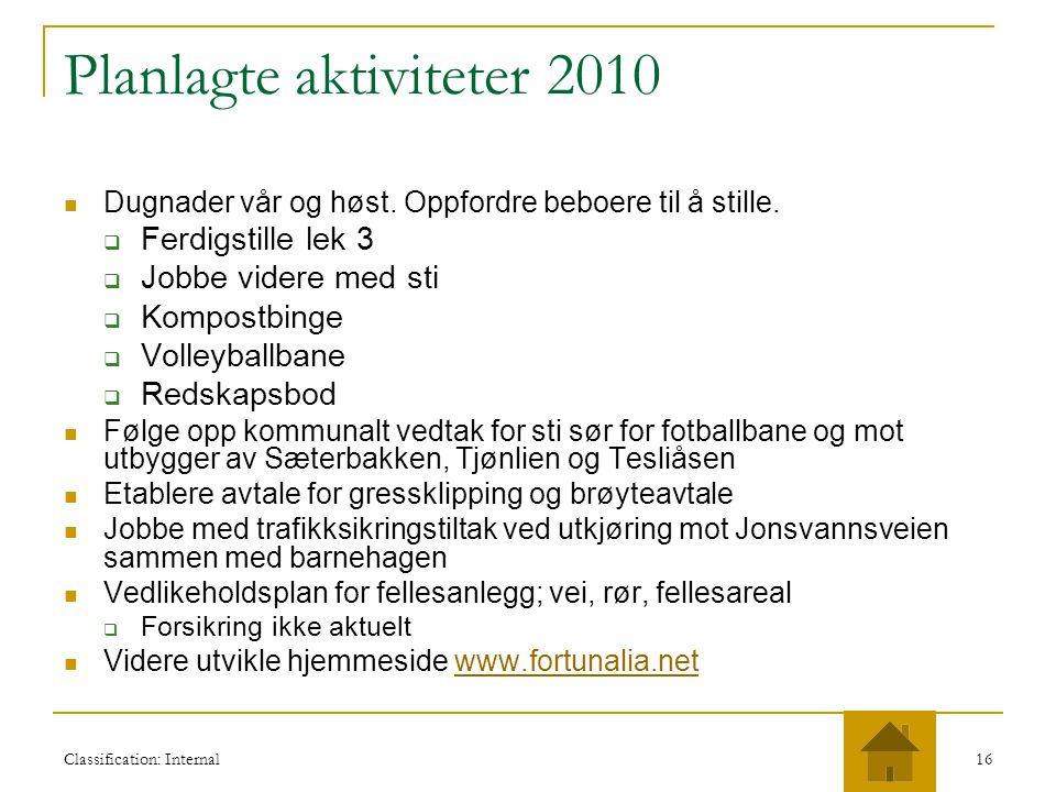 Planlagte aktiviteter 2010