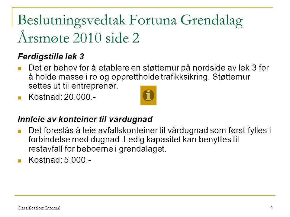 Beslutningsvedtak Fortuna Grendalag Årsmøte 2010 side 2