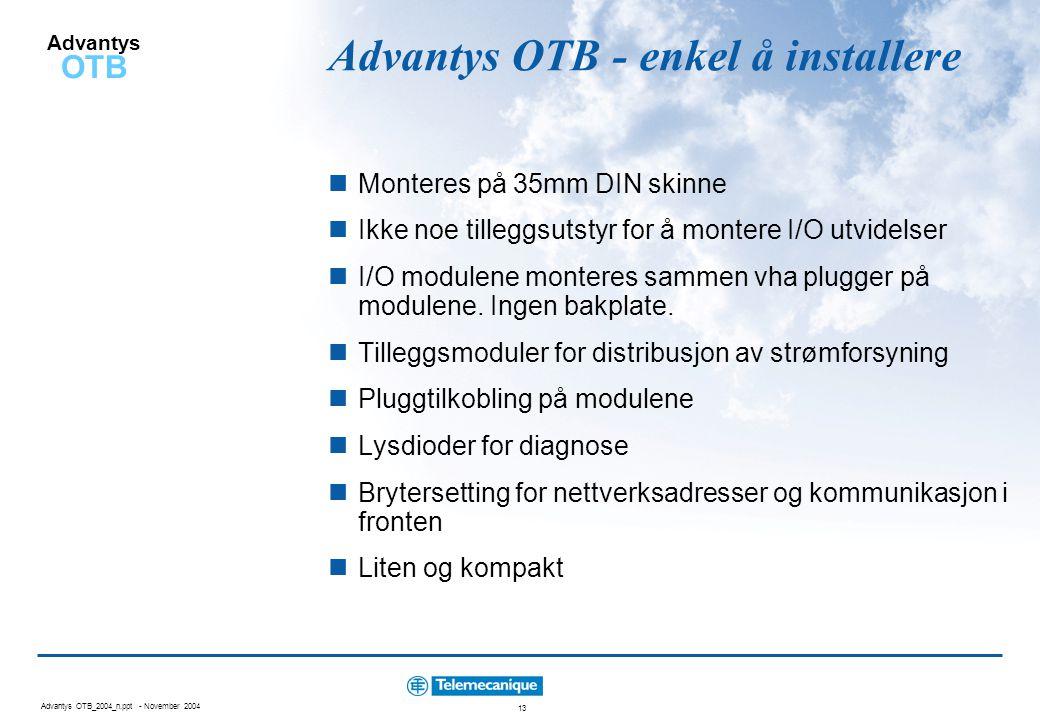 Advantys OTB - enkel å installere