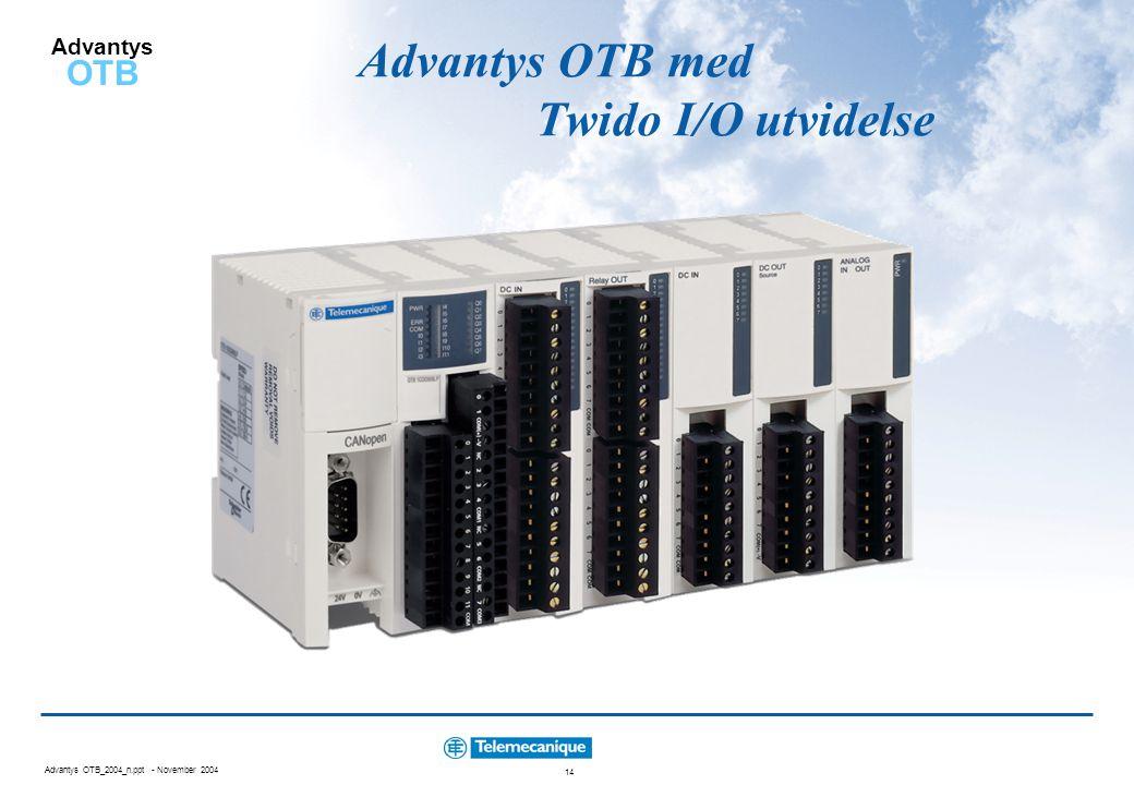 Advantys OTB med Twido I/O utvidelse