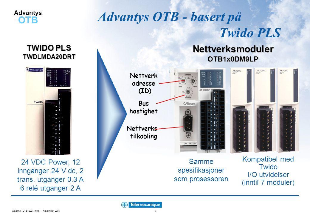 Advantys OTB - basert på Twido PLS