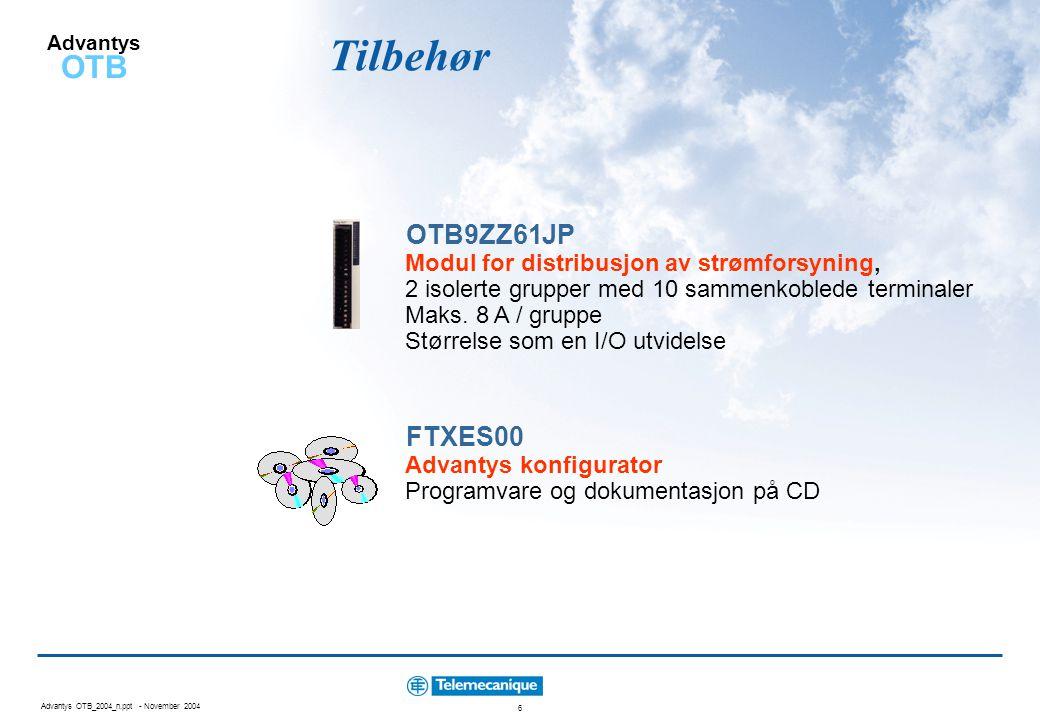 Tilbehør OTB9ZZ61JP FTXES00 Modul for distribusjon av strømforsyning,