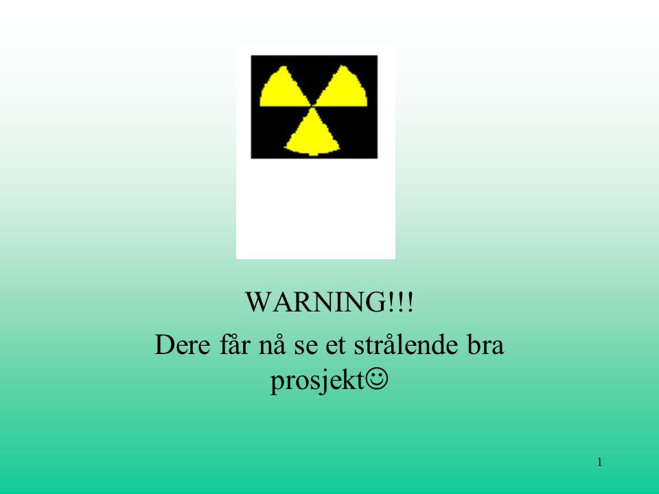 WARNING!!! Dere får nå se et strålende bra prosjekt