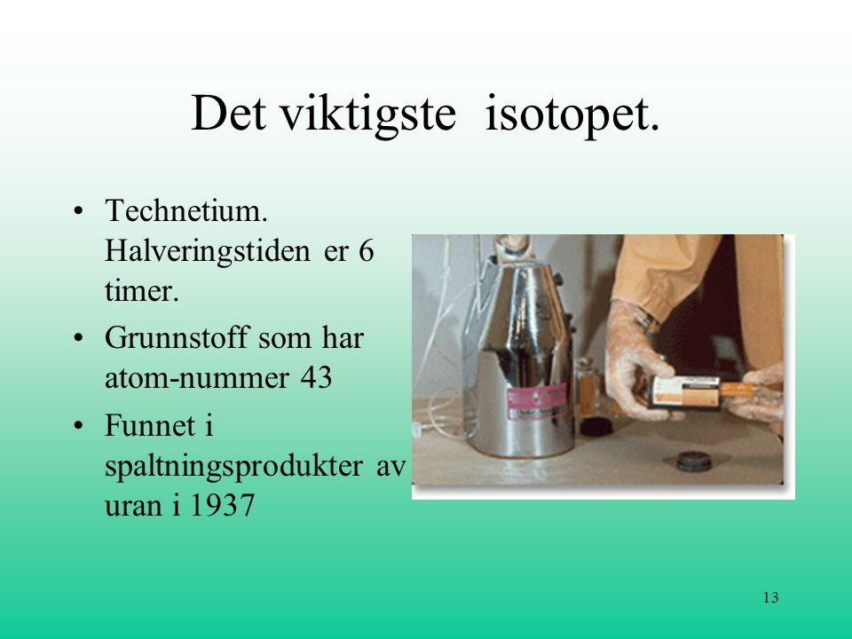 Det viktigste isotopet.