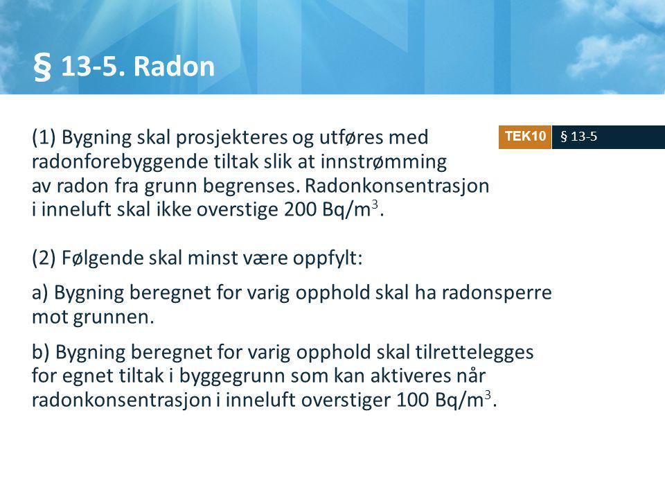 § 13-5. Radon