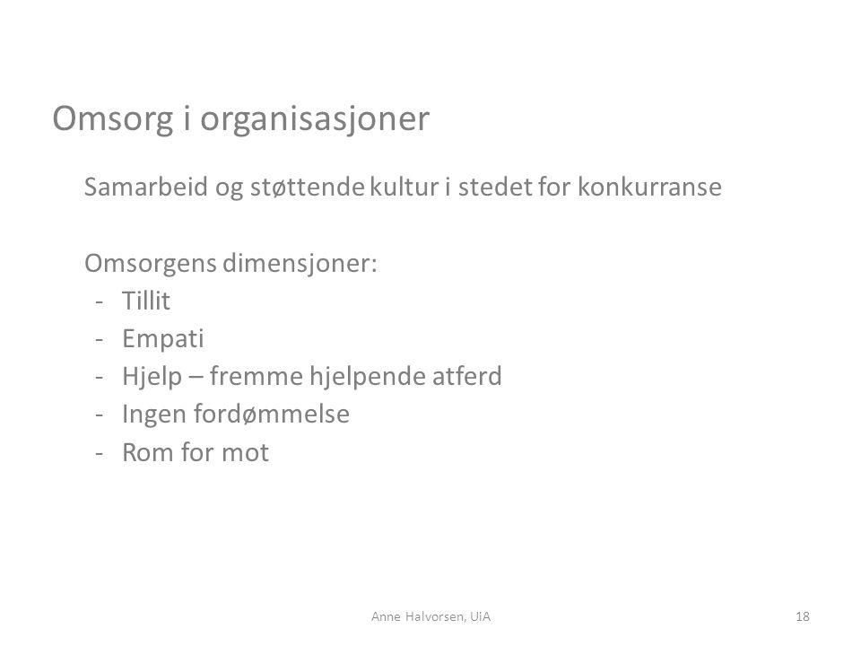 Omsorg i organisasjoner