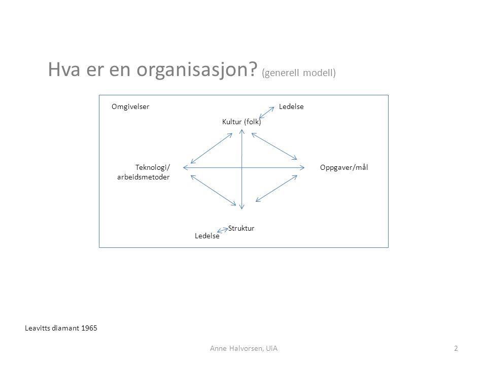 Hva er en organisasjon (generell modell)