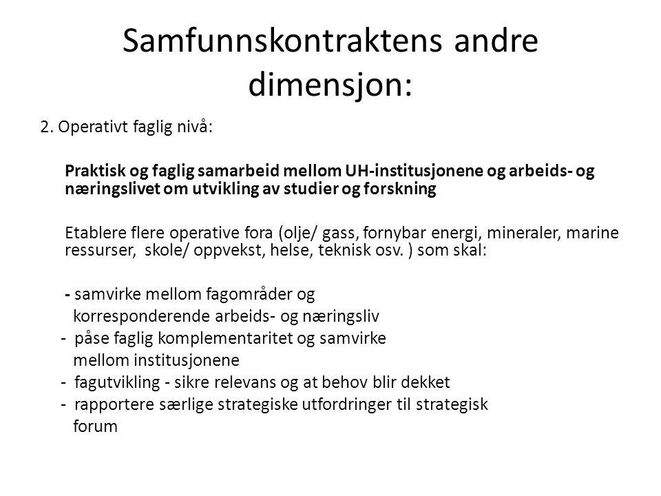Samfunnskontraktens andre dimensjon: