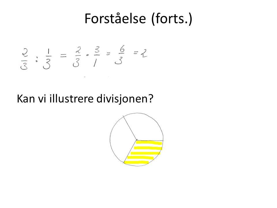 Forståelse (forts.) Kan vi illustrere divisjonen
