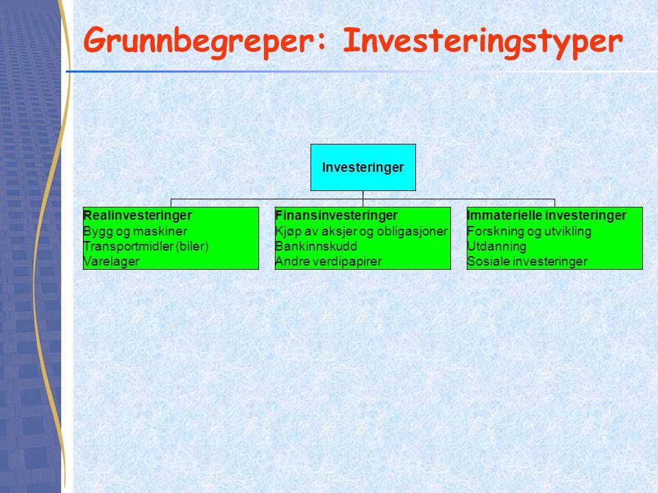 Grunnbegreper: Investeringstyper