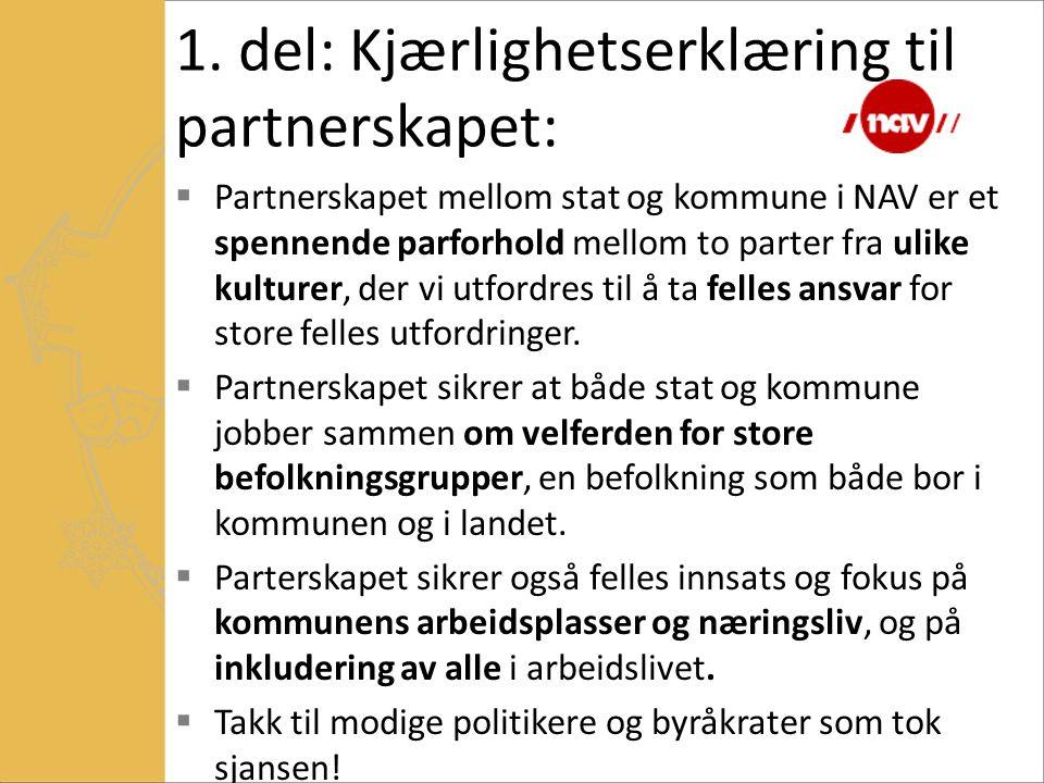 1. del: Kjærlighetserklæring til partnerskapet: