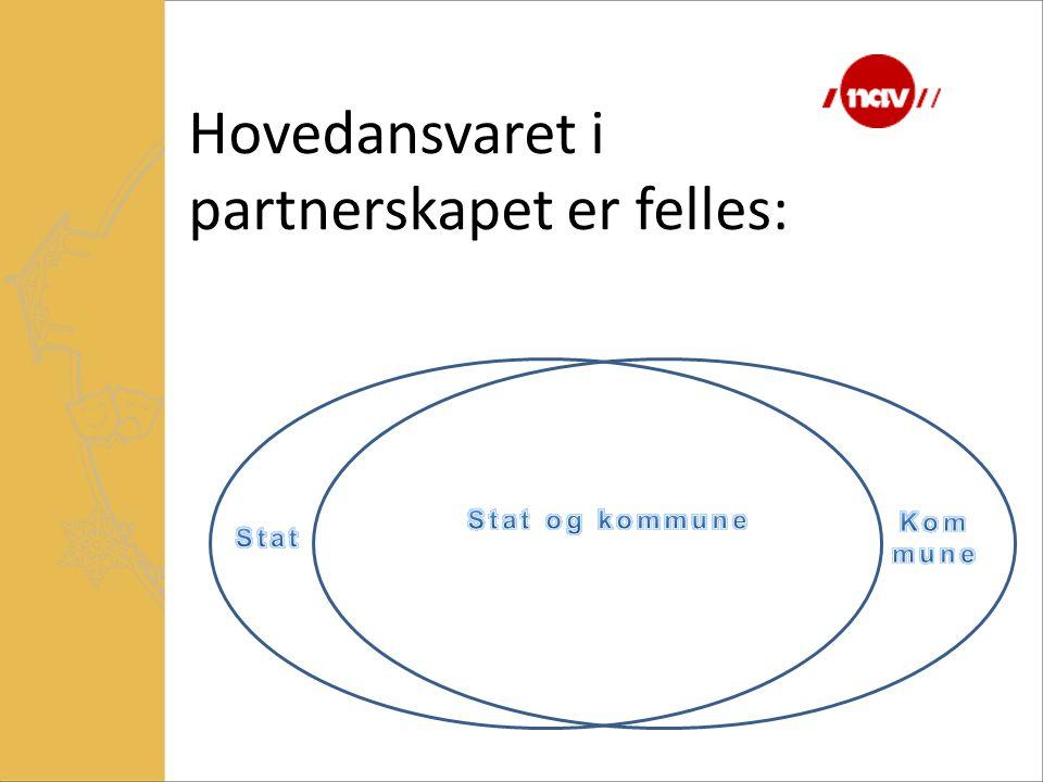 Hovedansvaret i partnerskapet er felles: