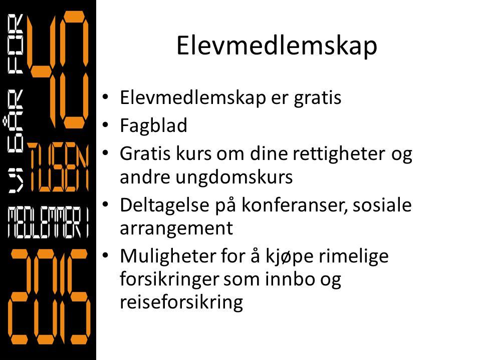 Elevmedlemskap Elevmedlemskap er gratis Fagblad