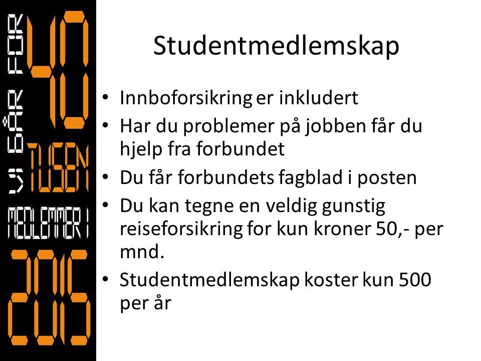 Studentmedlemskap Innboforsikring er inkludert