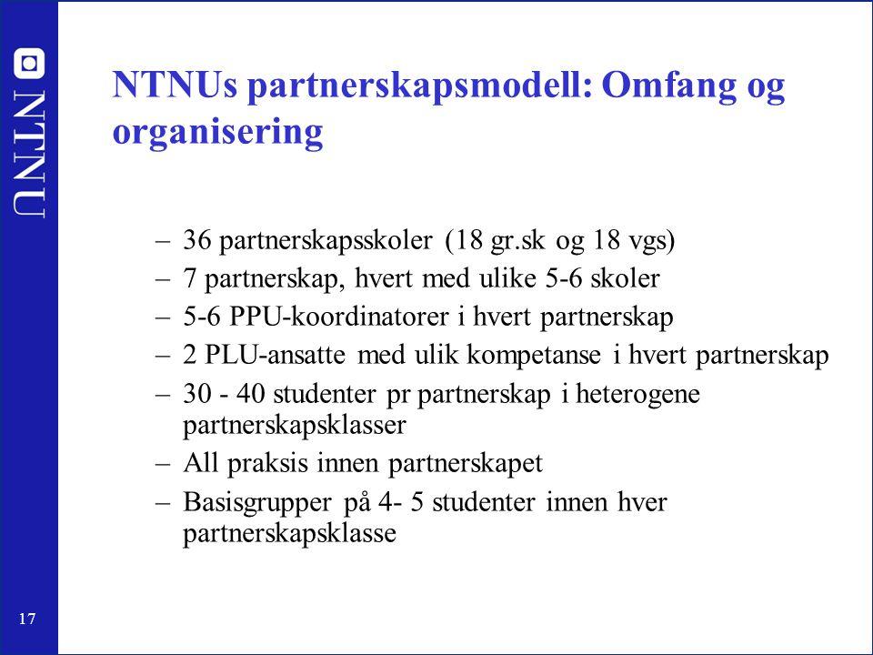 NTNUs partnerskapsmodell: Omfang og organisering