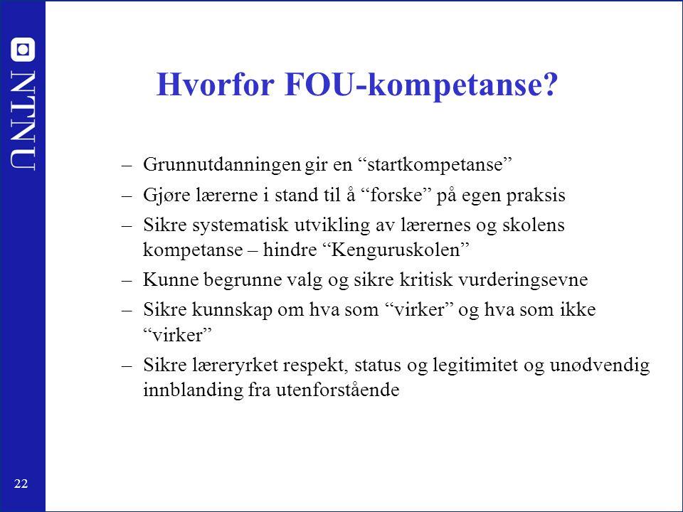Hvorfor FOU-kompetanse