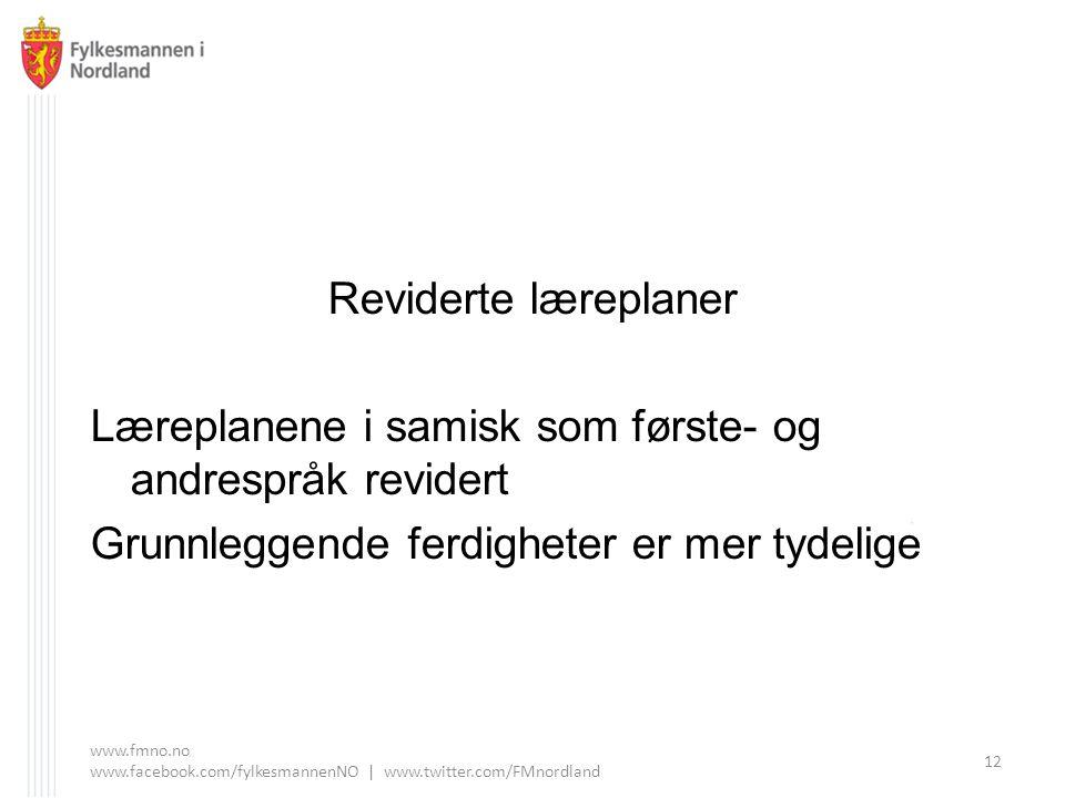 Læreplanene i samisk som første- og andrespråk revidert