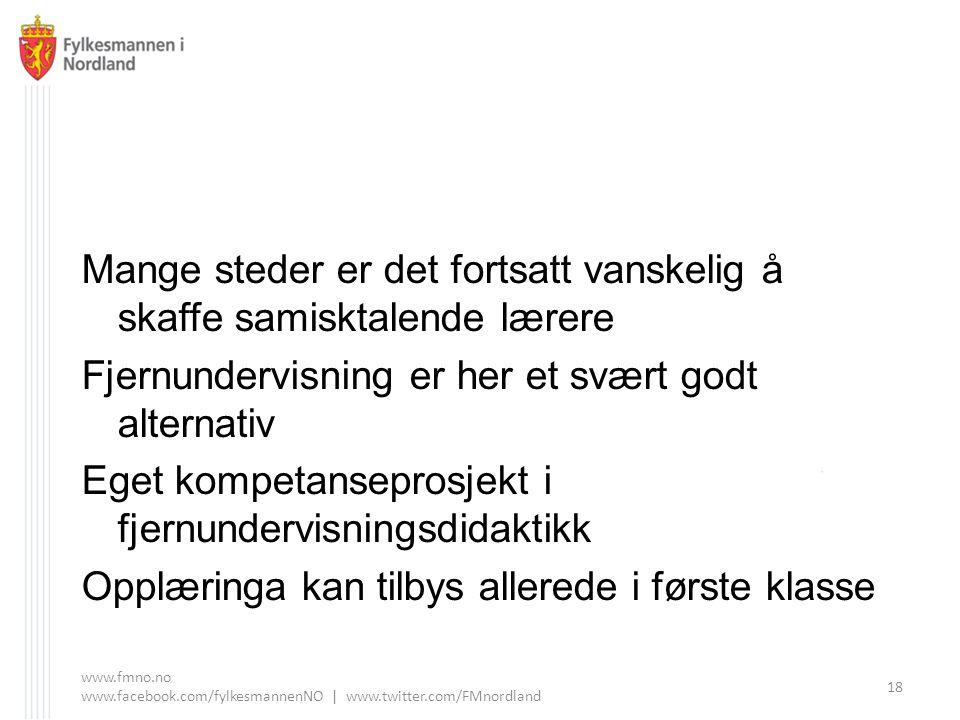 Mange steder er det fortsatt vanskelig å skaffe samisktalende lærere