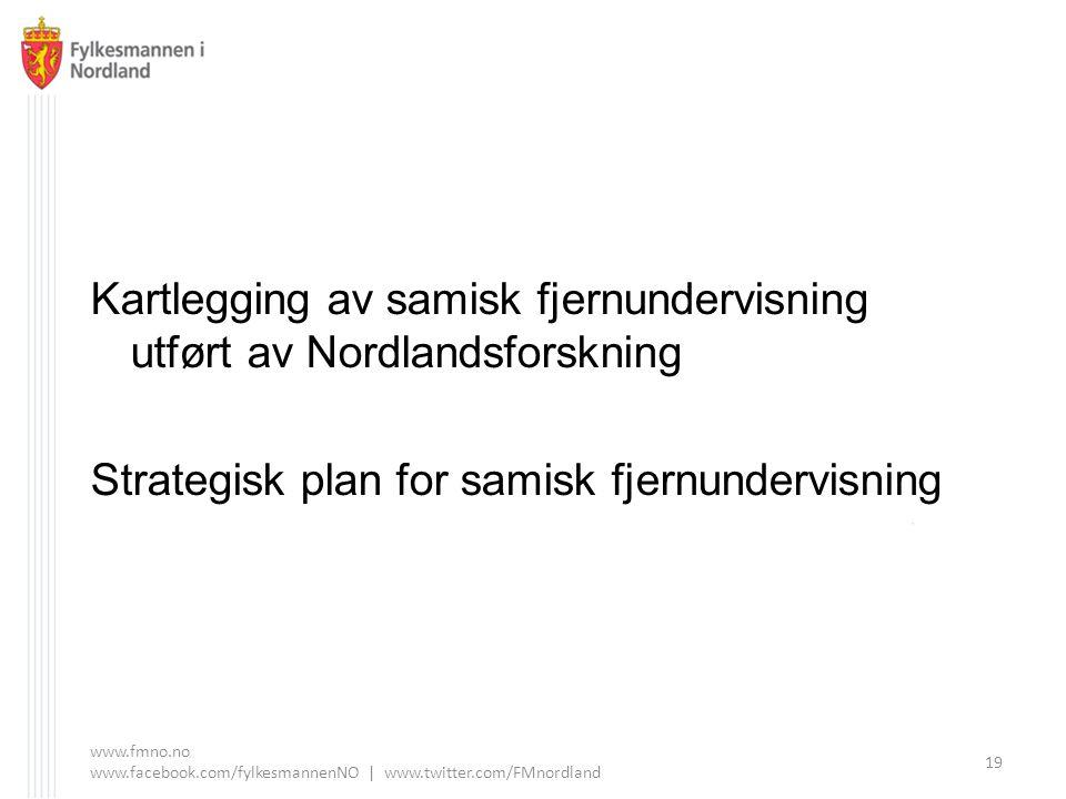 Kartlegging av samisk fjernundervisning utført av Nordlandsforskning