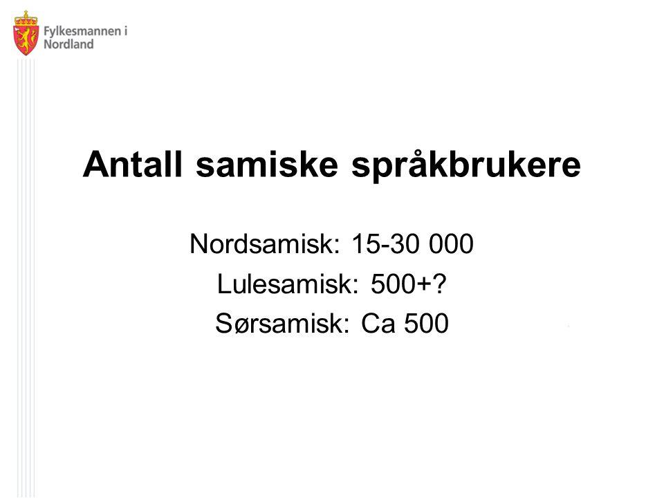 Antall samiske språkbrukere