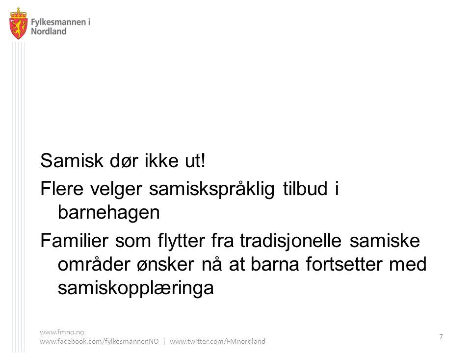 Flere velger samiskspråklig tilbud i barnehagen