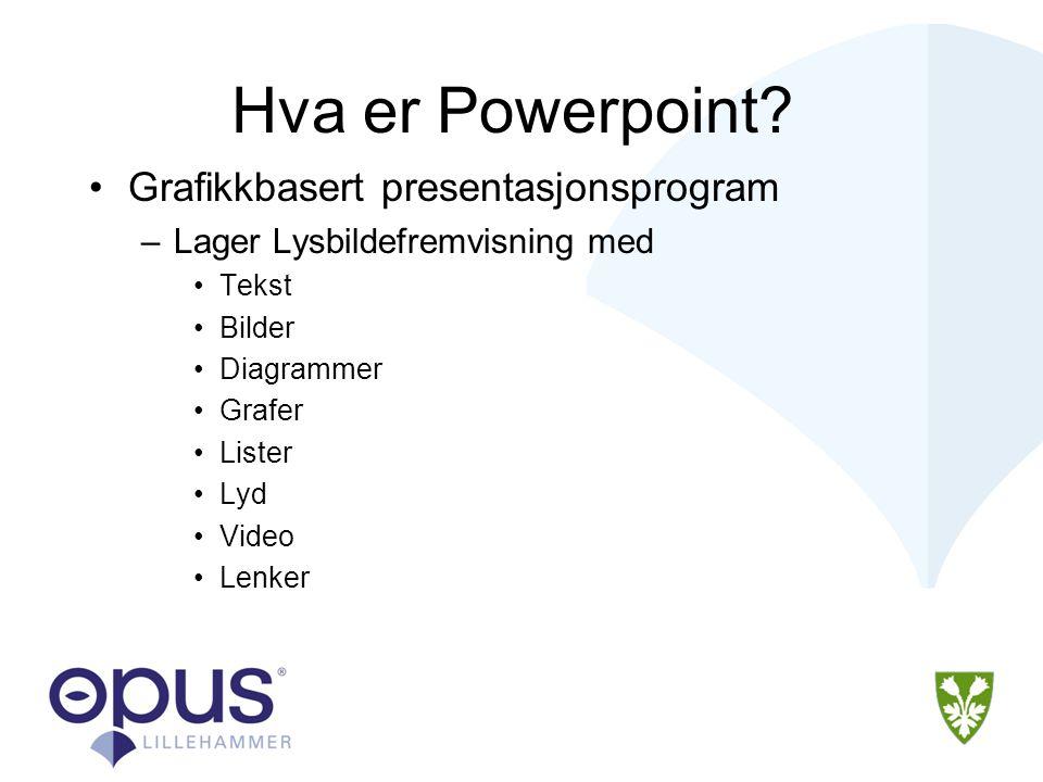 Hva er Powerpoint Grafikkbasert presentasjonsprogram
